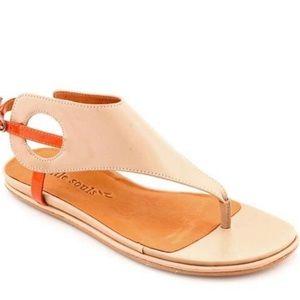 {Gentle Souls} orange & tan strappy sandals sz 8.5